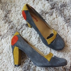 Anthro Faryl Robin color block heels